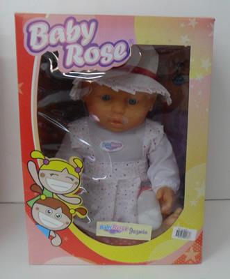 BEBOTA JAZMIN  CON SOMBRERO - BABY ROSE TURBYTOYS