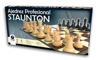 AJEDREZ PROFES STAUTON C/TABLERO 50X50CM-PLASTIGAL