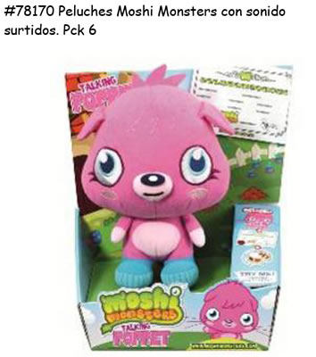 PELUCHES MOSHI MONSTERS CON SONIDOS; SURTIDOS