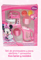 SET PROCESADORA + JARRA ELECTRICA MINNIE