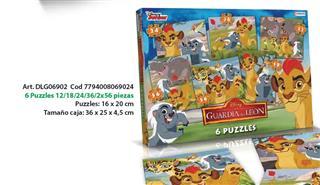 6 PUZZLES 12/18/24/36/2X56 PIEZAS. PUZZLE: 16X20 CM. TAMA�O 7794008069024