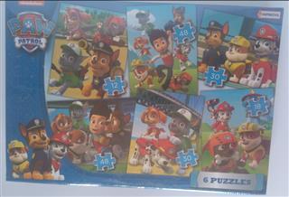 6 PUZZLES 12/18/24/36/2X56 PIEZAS. PUZZLE: 16X20 CM. TAMA�O 7794008099885